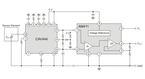 AM411 as industrial output stage for CAV444.